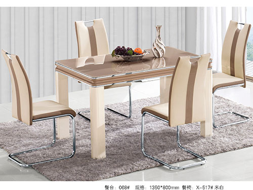 Counter:068# Dining chair:X-517#Rice white